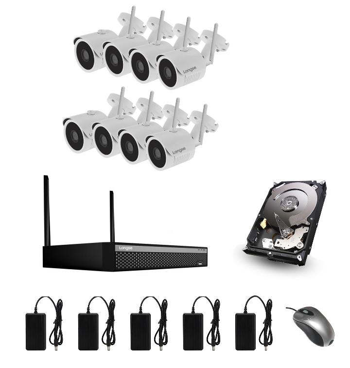 01e45102c WiFi kamerový set so 8 WiFi IP Full HD kamerami | SpionSvet.sk
